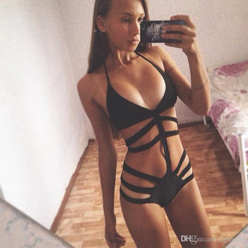 99e26624b26 Brand Swimwear Women High Waist One Piece Swimsuit Sexy Monokini ...