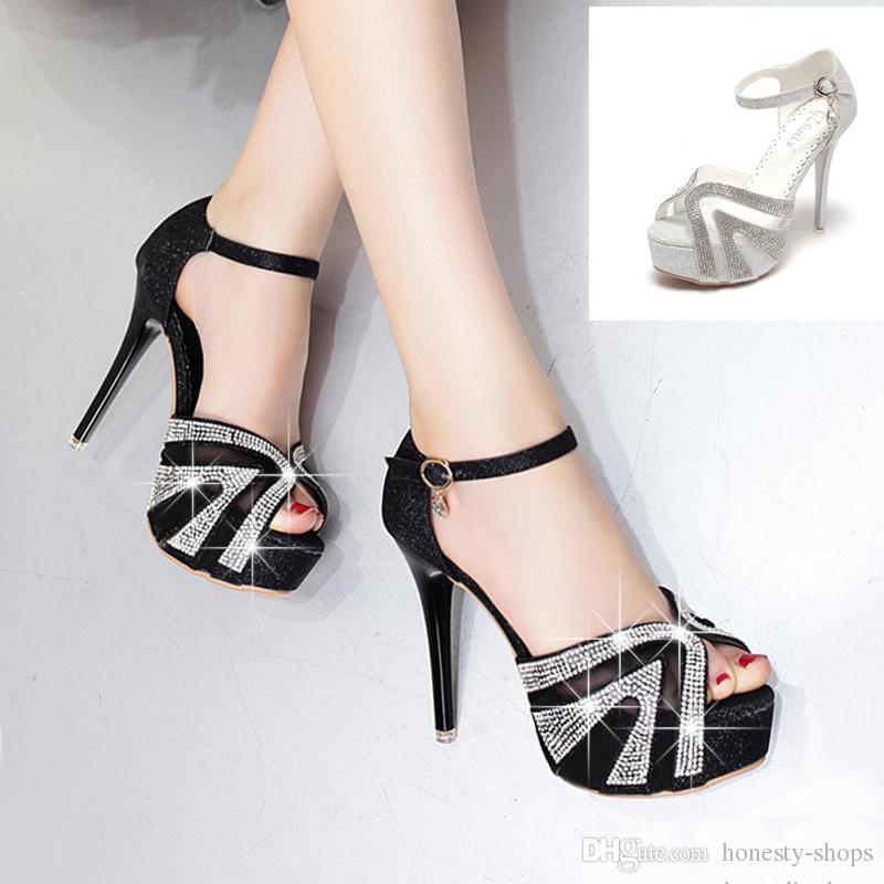 Schuhe silber high heels