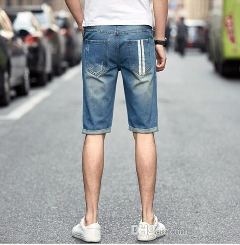 2017 2017 Summer Classic Men Shorts Jeans Fashion Distressed Mens ...