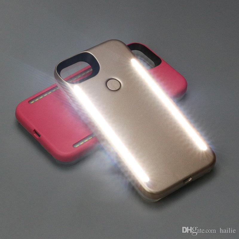 For iphone 6 7 Plus Luminous 3 Generation LED Cell Phone Case Photograph LED Fill Light Selfile Mobile Phone Shell Cover