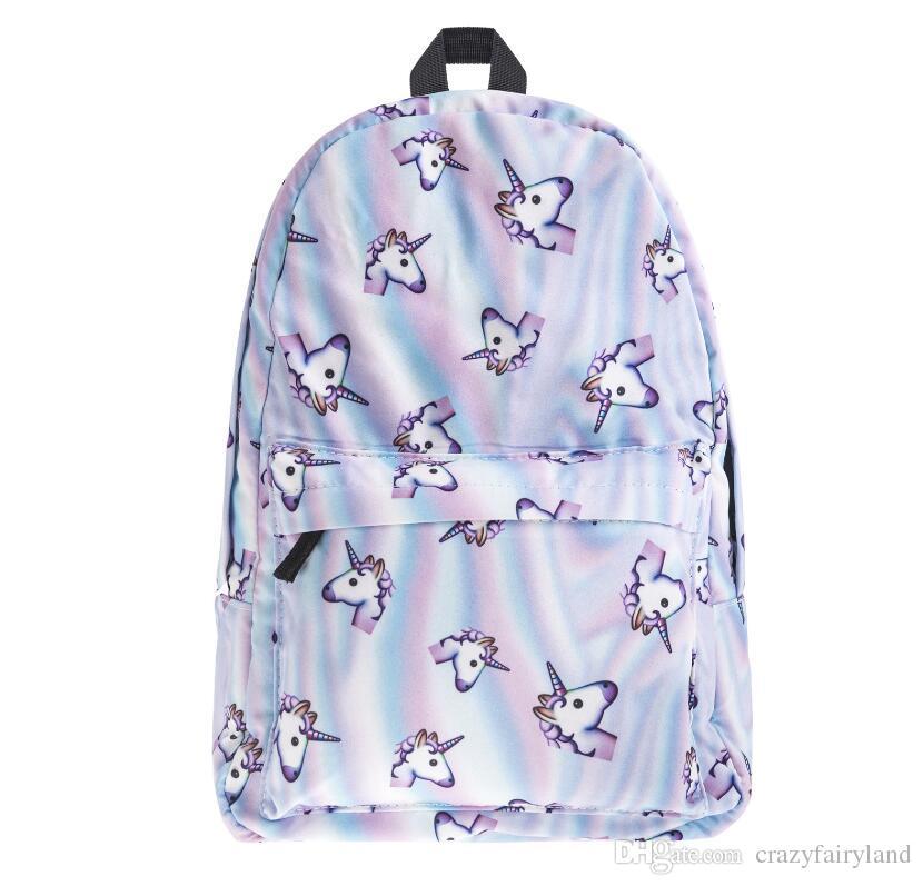 Unicorn Emoji Backpacks For High School Backpacks Emoji Monkey ...