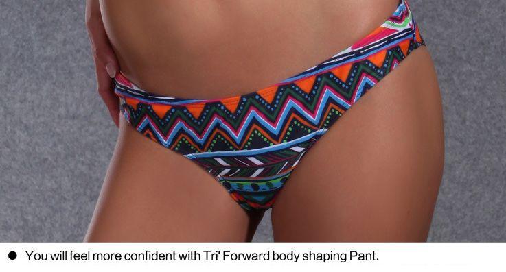 2017 new female sexy bikini swimsuit retro pattern pattern Tobibini gathers thin body swimsuit romantic stripes exquisite embellishment 1355