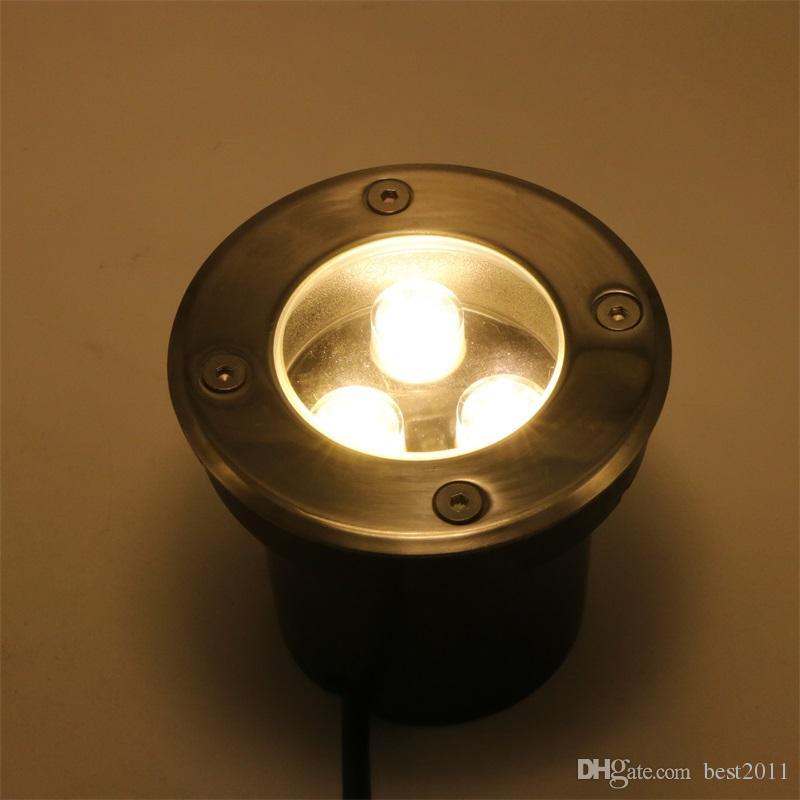 Lampada da terra a luce sotterranea a led 9W Esterna IP67 Illuminazione da incasso a pavimento calda / fredda Bianco Rosso Blu Verde