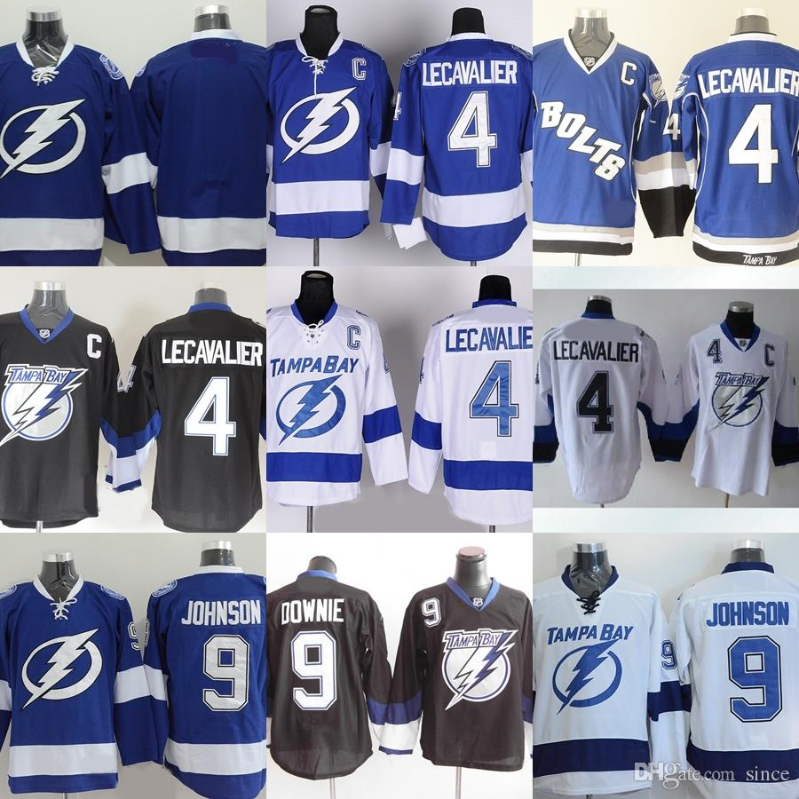 2018 Factory Outlet Menu0027S Tampa Bay Lighting #4 Lecavalier #9 Tyler Johnson  #9 Dovonie #blank Blue White Newest Ice Hockey Jerseys From Since, ...