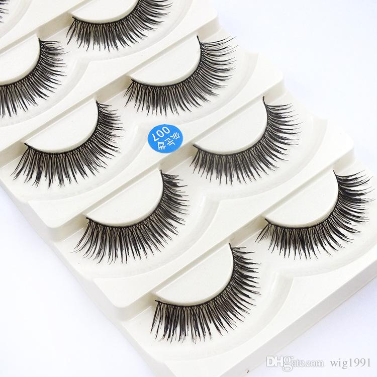 Messy Long Makeup Cross Thick False Eyelashes 8 Styles with Box Package Beauty Tools Nautral 3D Handmade Lashes Retail Box Hot