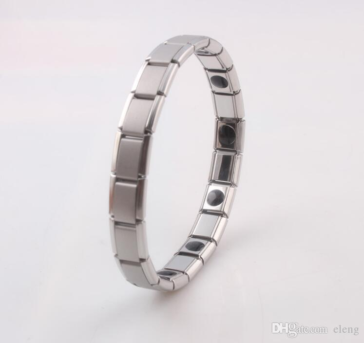 hot selling New arrival Energy bracelet Titanium, Nano Energy Magnetic Germanium Titanium Bracelet Pain Relief Powerfull! 50