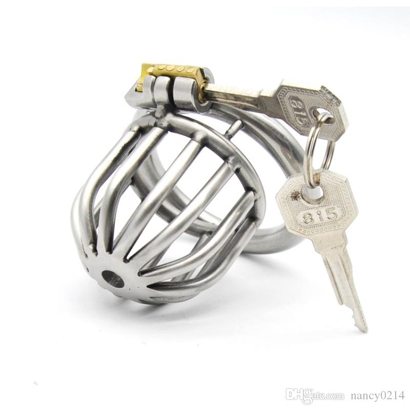CBT Toy Cb600s Male Chastity Cage Stainless Steel Cock Cages Chastity Devices with Soft Catheter Penis Lock Bondage Sex Toy G181
