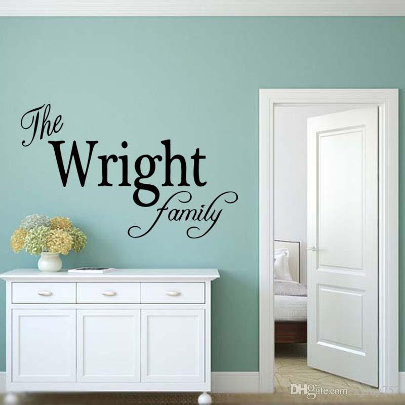 Family Name Wall Art personalized family name wall art vinyl decal removable sticker