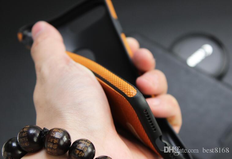 Lüks Mikki Deri Zırh Hibrid Iş Yumuşak TPU Kılıf Iphone X 7 Artı 6 6 s SE 5 5 S Galaxy S9 Not 8 S8 S7 Darbeye Silikon Kapak