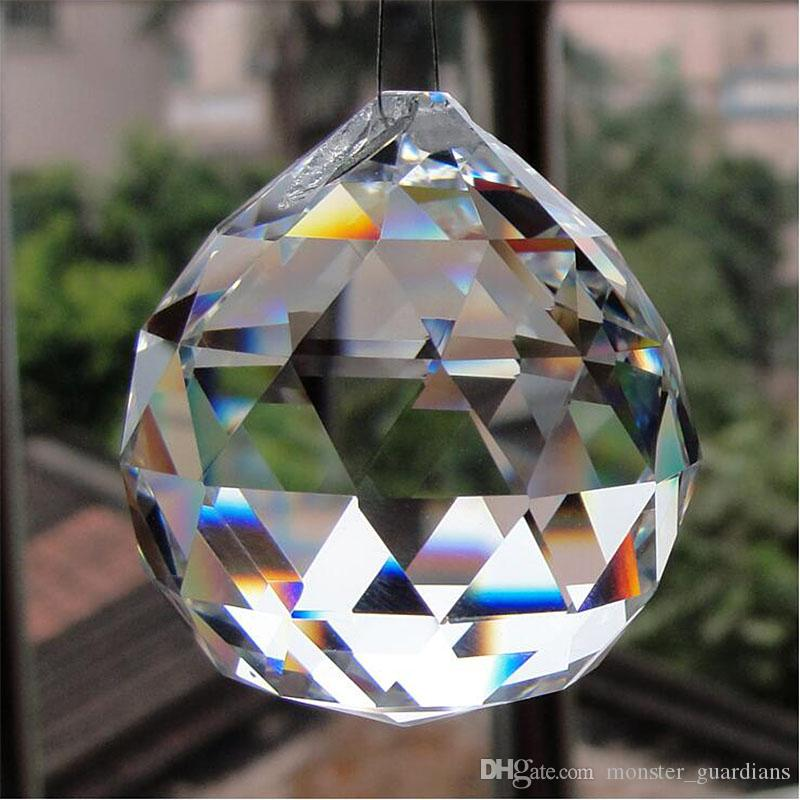 Crystal Glass Faceted Ball Chandelier Parts Pendant Bead - Chandelier crystals for crafts