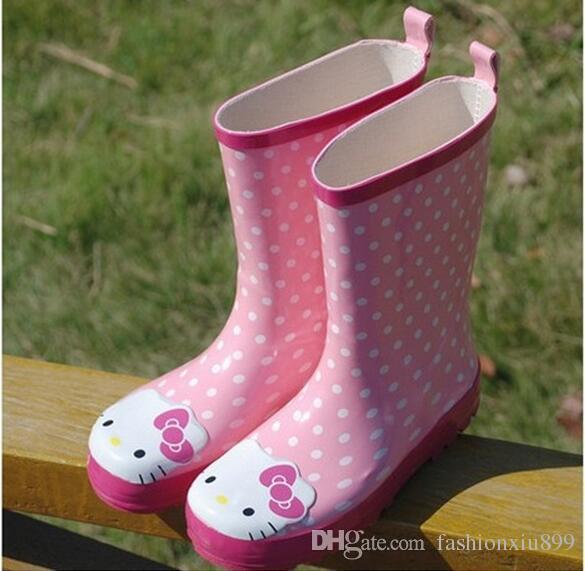 f78ffbec0 Hello Kitty Rubber Rain Boots Children,Girls Kids Boys Baby Rain Boots,Water  Shoes Toddler,Bota Menina,Botas Infantil Childrens Hiking Boots Girls  Winter ...