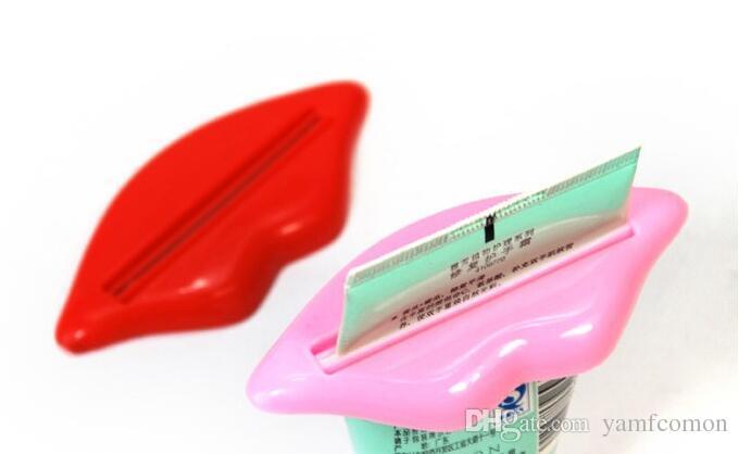 Sexy Hot Lip Kiss Bathroom Tube Dispenser Toothpaste Cream Squeezer Home Tube Rolling Holder Squeezer