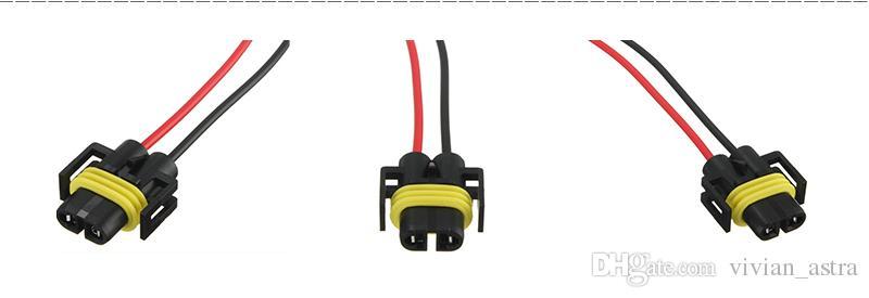 H8 H11 Adaptador Femenino Mazo de cables del zócalo del coche Conector del cable del auto Conector del cable para HID LED Faros antiniebla Bombilla
