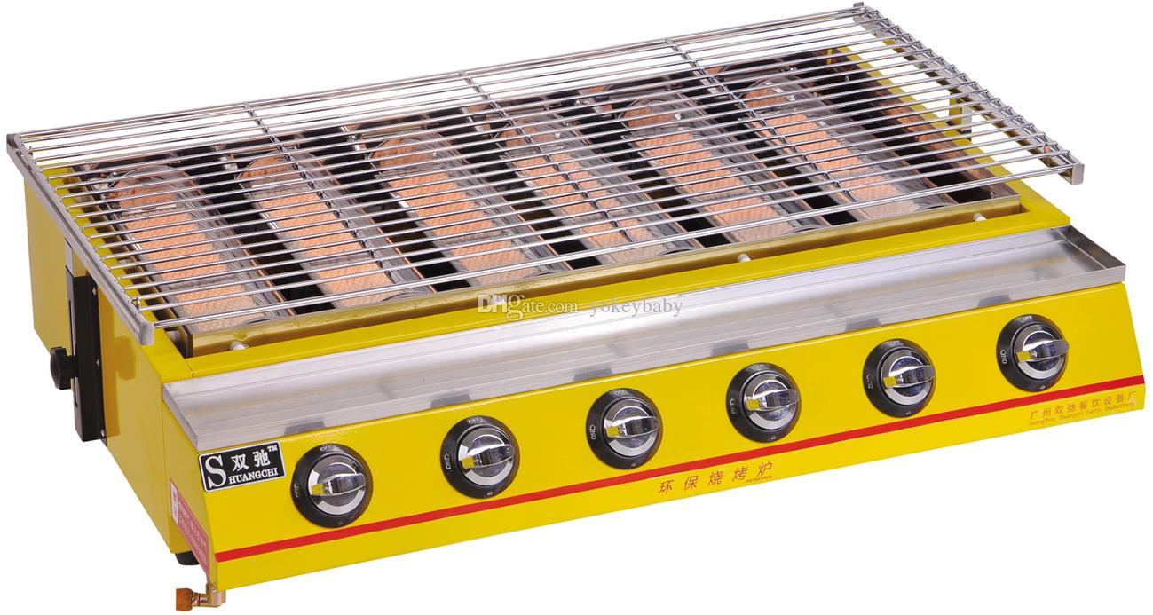 Barbecue grill 6 head gas bbq grill commercial gas bbq for Giordano shop barbecue a gas