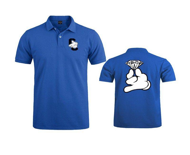 Crooks and Castles Polo camiseta COTTON hombres casual manga corta para estampado crewneck mens tee shirt
