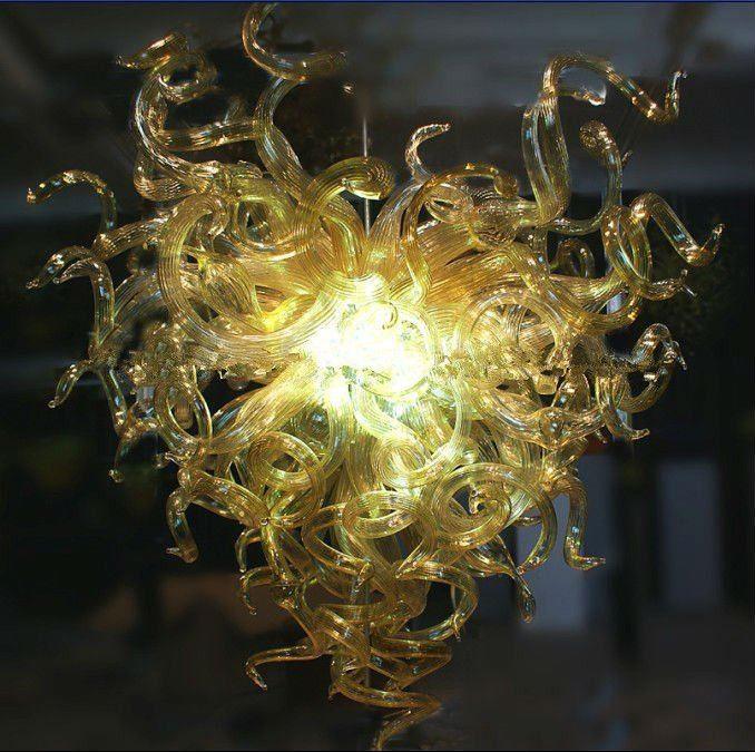 Artistic Lamp Modern European Cheap Crystal Chandelier for Sale Style Murano Hand Blown Glass Chandeleir Light With Led Bulbs