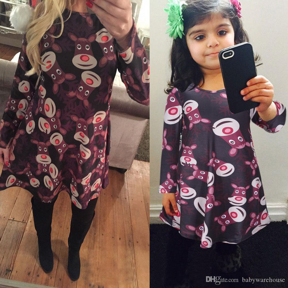Matching Mother and Daughter Clothes Christmas Dresses Matching Family Outfits Family Christmas Pajamas Women Dresses Girls Dresses