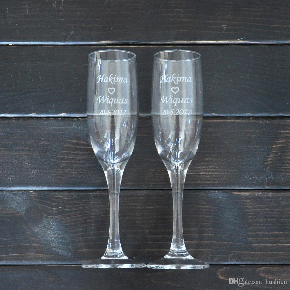 2018 Personalized Toasting Glasses Set Of 2 Bride And Groom