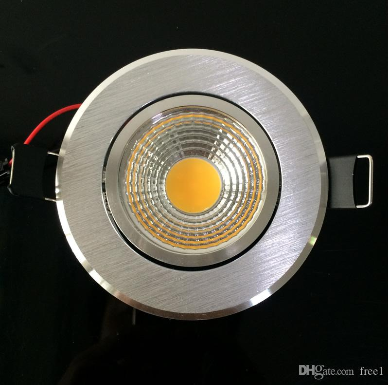 New 9w silver Shell cob Led downlight Dimmable Led Ceiling Lights office hotel lighting AC110-240V Nature White 4000K + Drivers