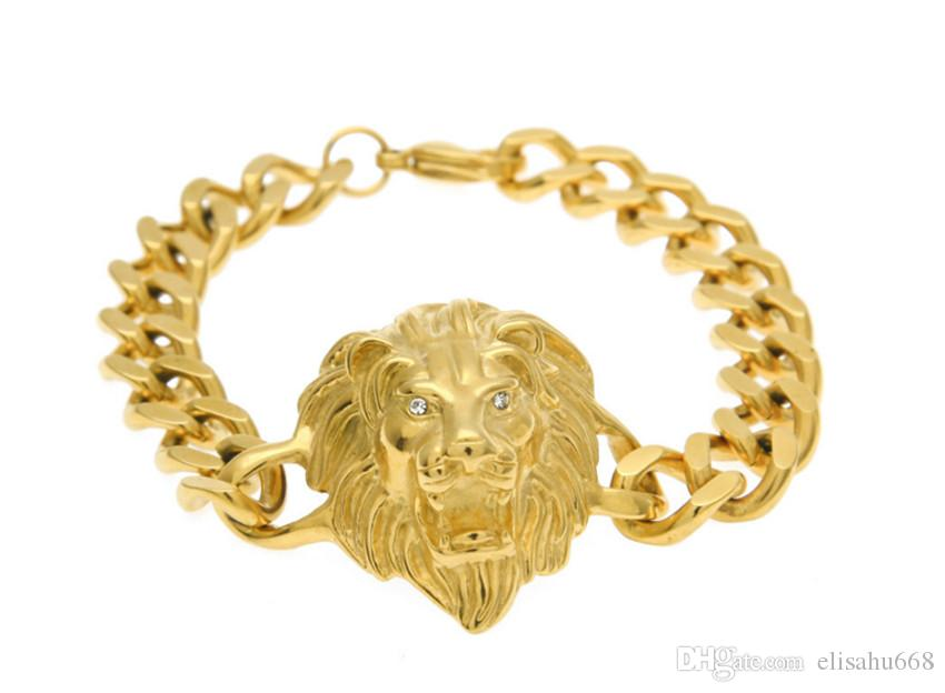 2019 New Design 2017 Hiphop Men Jewelry 18k Gold Plated Bracelet