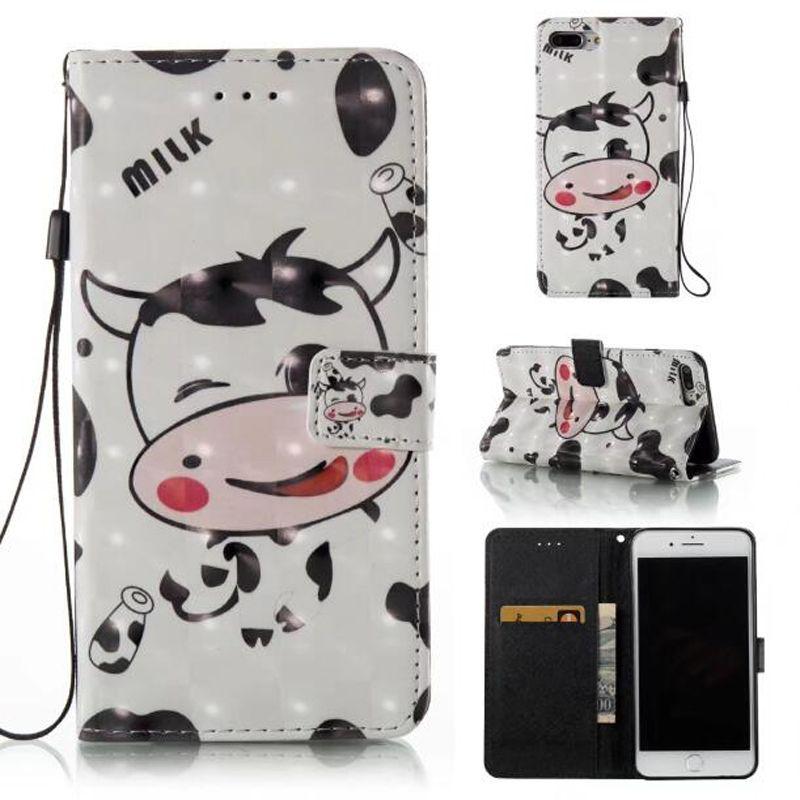 3D Leather PU Fashion Friend Custodia Dream catcher iphone 7 plus 6 6S 5S SE Galaxy S8 PLUS bordo S7