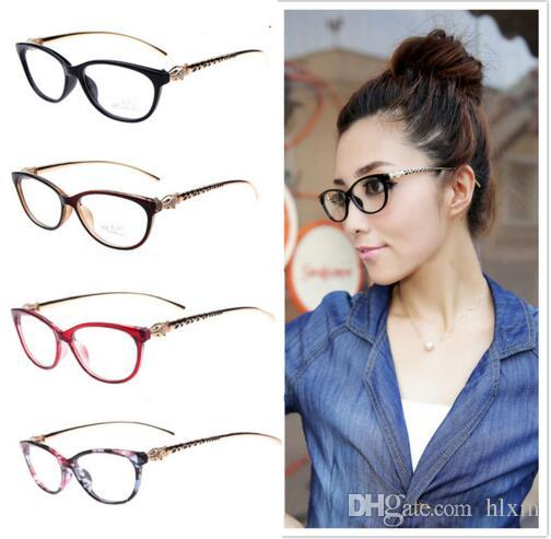 3a5f3f9b5358 2019 2016 Fashion Cheetah Earstems Glasses Frames Women Ladies Leopard  Decorative Reading Glasses Frame Eyeglasses No Degree From Hlxm