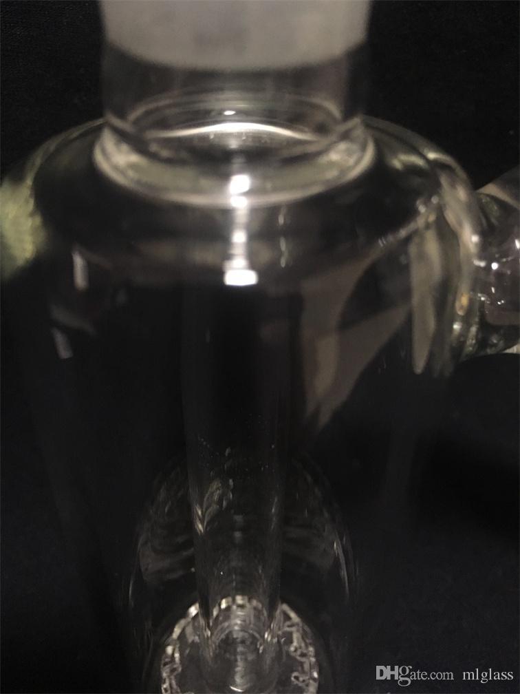 Glashukas 45-Grad Aschefänger Wasserleitung Bongs 18mm Gelenkbohrer Rauch Zubehör Preis-Zugeständnisse