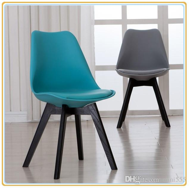 2018 Modern Dining Chairs/Dining Room Chairs/Home Chairs With Tiffany Blue  Pu Cover And Black Wooden Legs From Onni555, $92.47 | Dhgate.Com
