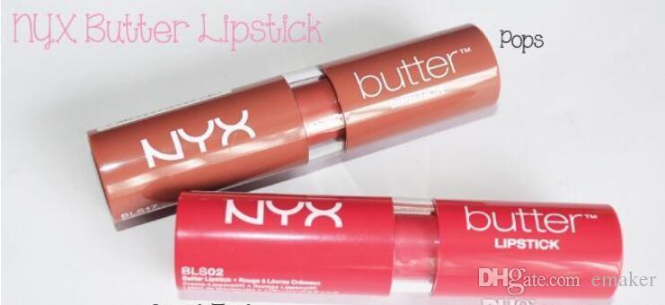 2017 nuevos es NYX Mantequilla pintalabios Mate a prueba de agua de larga duración Barra de labios nyx Tint Lip Gloss Stick Marca Maquillage