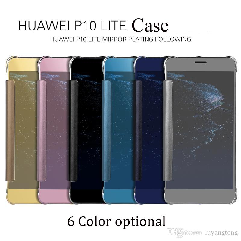 sneakers for cheap 51d1f d2453 Phone Case For Huawei P10 Lite Smart Mirror Flip Leather Cover case For  HUawei P10 Lite Back Cover P10 Lite Coque free shipping