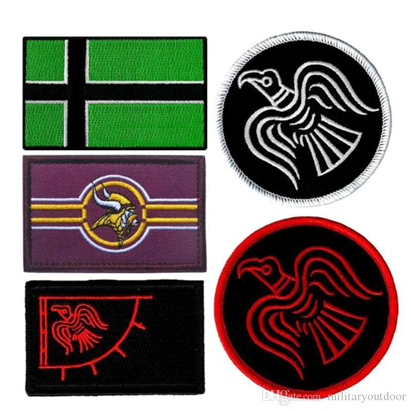 546092bff472 VP-200 hot sale US Flag Vinland Viking Tactical morale Patches Iron on  patches Applique Jeans Fabric Sticker Patches for Hat badges