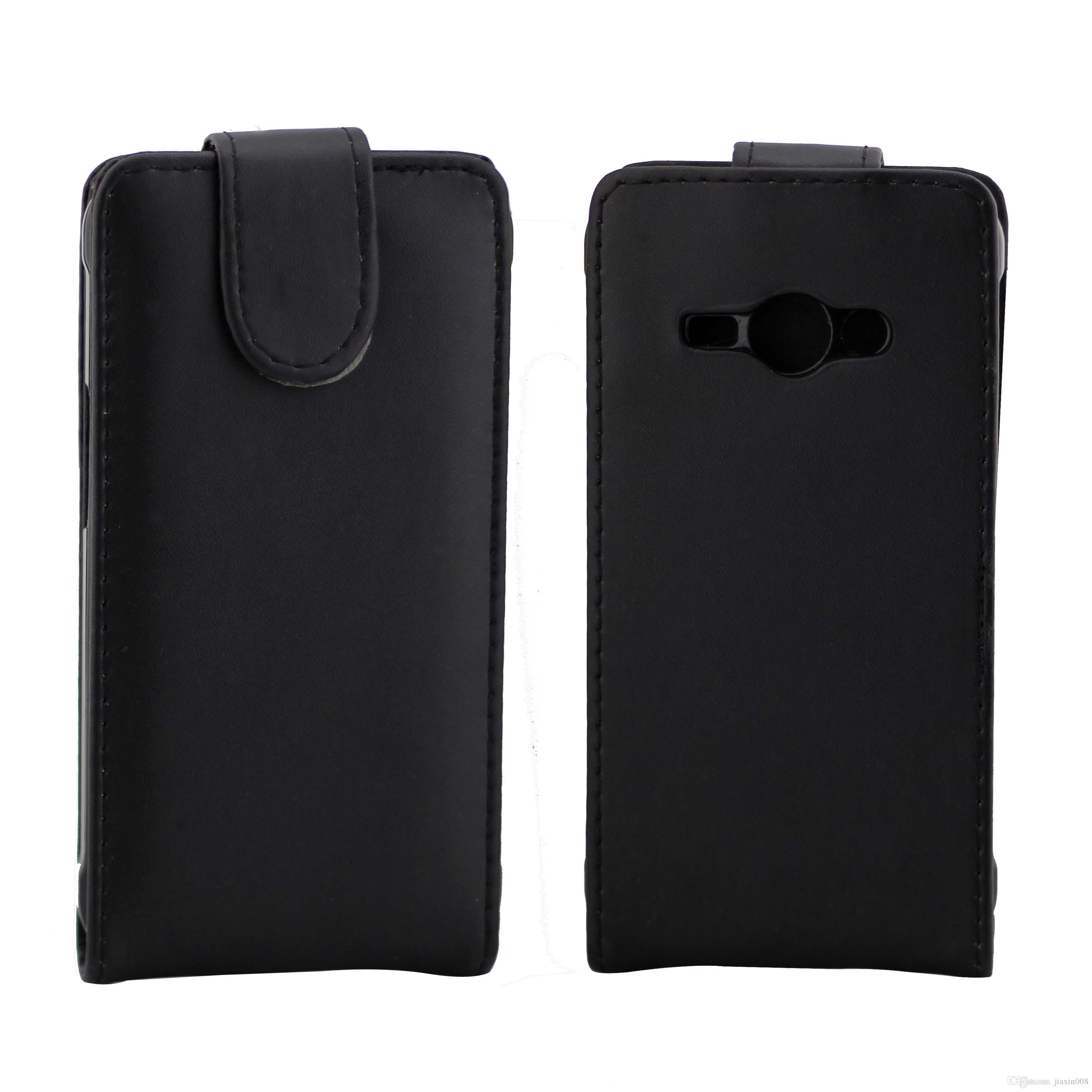 Handytaschen Flip-Cover für Samsung Galaxy J1 Ace J110 Handytasche Zurück Coque Leder Flip Vertikale Up-Down Open Hauttasche Telefon Cover