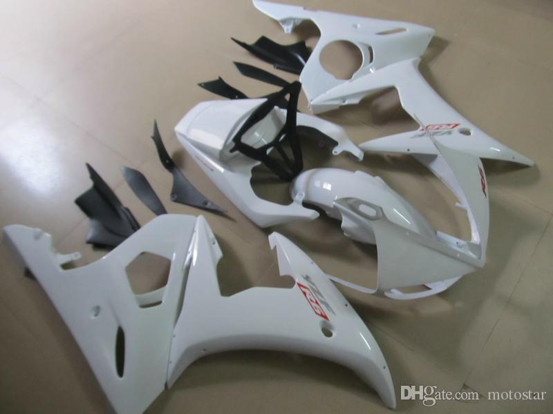ABS plastic fairing kit for Yamaha YZF R6 03 04 05 white black fairings set YZF R6 2003 2004 2005 OT25