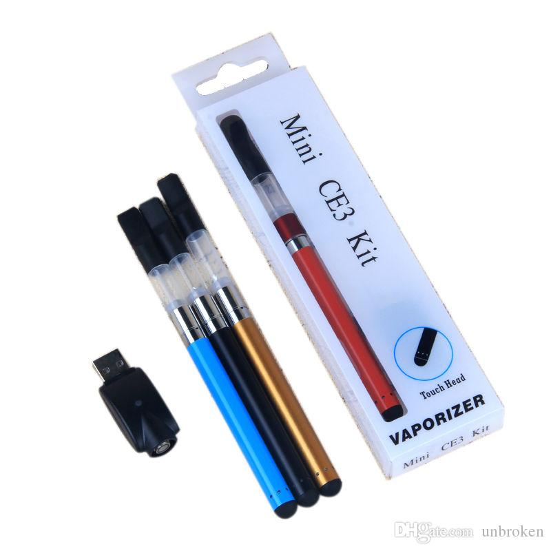 Vente chaude Mini CE3 Blister Kit Vaporisateur Bourgeon Tactile Batterie 280 mah CE3 510 Vaporisateur Réservoir Vape Stylos E Cigarette Blister Kits