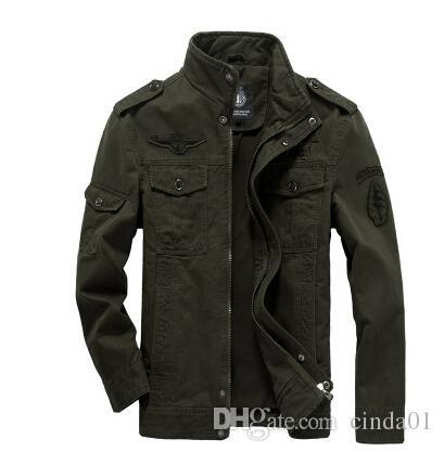 Plus size clothing männer armee jacken casual warme winter herbst mäntel stickerei fleece dicke jacke kleidung für männlich