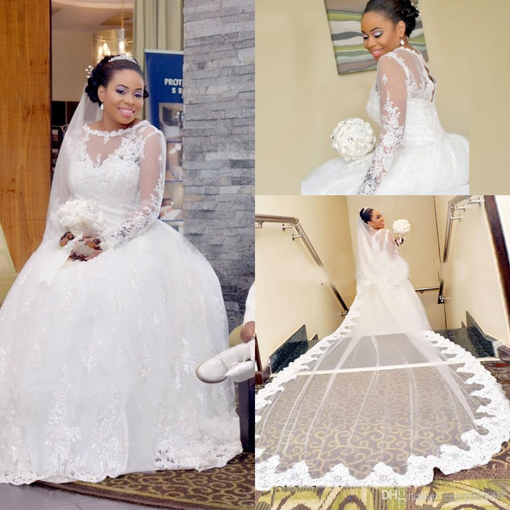 Discount 2017 South African Elegant Long Sleeves A Line Wedding