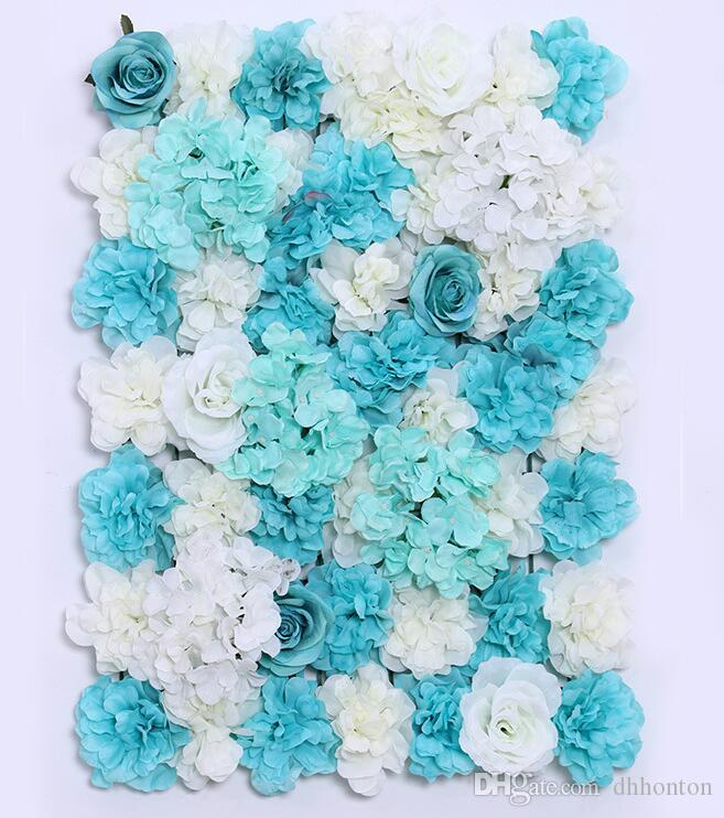 flower wall Silk rose tracery wall encryption floral background artificial flowers creative wedding stage WT055