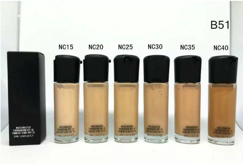HOT Makeup STUDIO FIX FLUID B51 Foundation Liquid 35ML Alta calidad + regalo Faced Corrector resaltador de maquillaje
