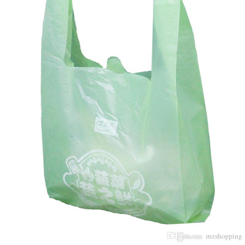 high quality plastic bag custom logo vest bag supermarket shopping bag hand held horse clip made of convenient bags custom reusable bags leather handbags - Custom Plastic Bags
