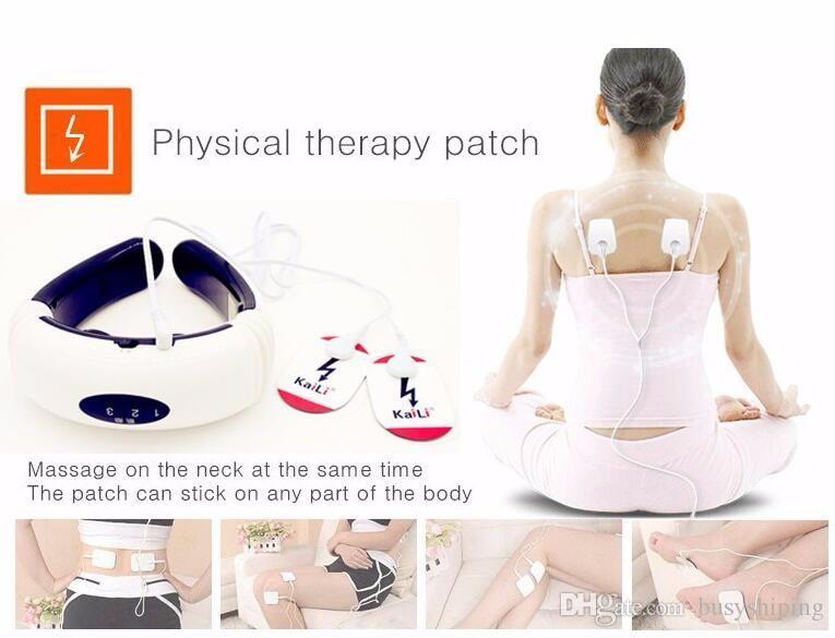 Electric pulse Back Neck massager Cervical Vertebra Treatment Instrument Acupuncture magnetic therapy Neck pillow massager