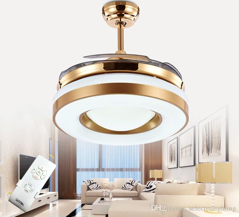 Astounding Dimming Remote Control 42Inch Led Ceiling Fans Lights With Changeable Light Ceiling Fans 220V 110V For Home Decor Download Free Architecture Designs Embacsunscenecom