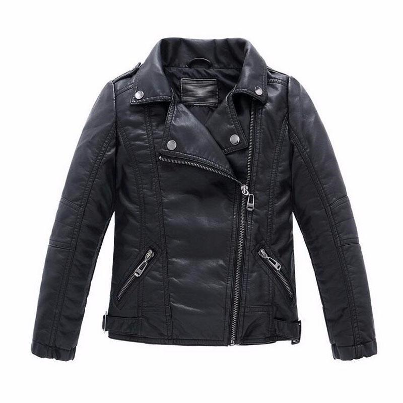 Baby Boys Faux Leather Jacket Kids Girls And Coats Spring Kids ...