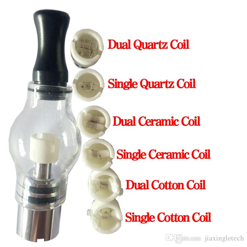 Quartz atomizer dual wax coil ceramic Donut rebuildable atomizer core for wax glass globe vaporizer pen dry herb vapor replacement e cigs