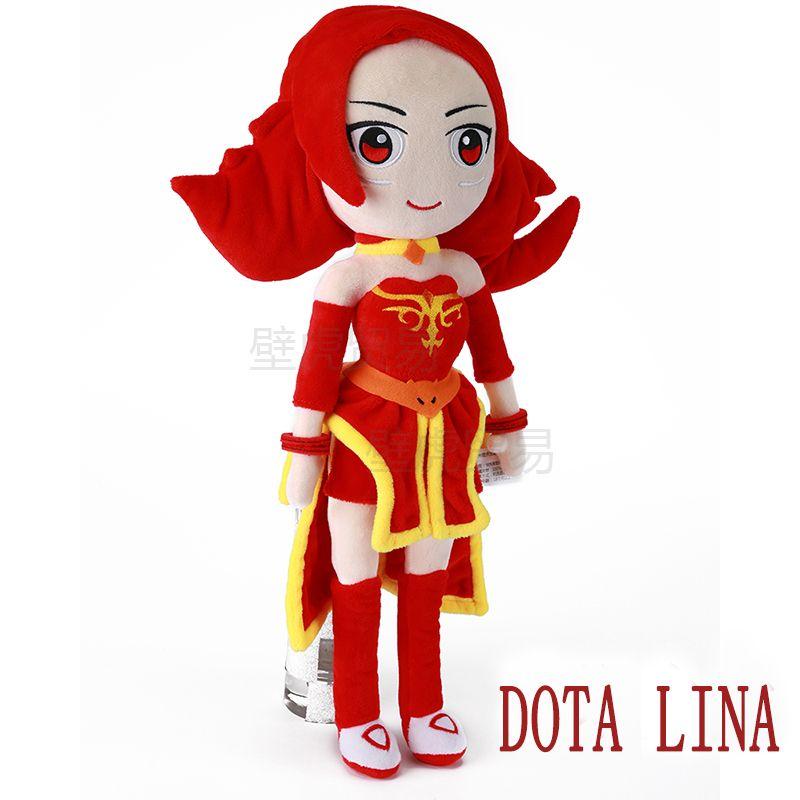 DOTA 2 action Figure Lina 50cm plush toys Collection dota 2 figure Toys