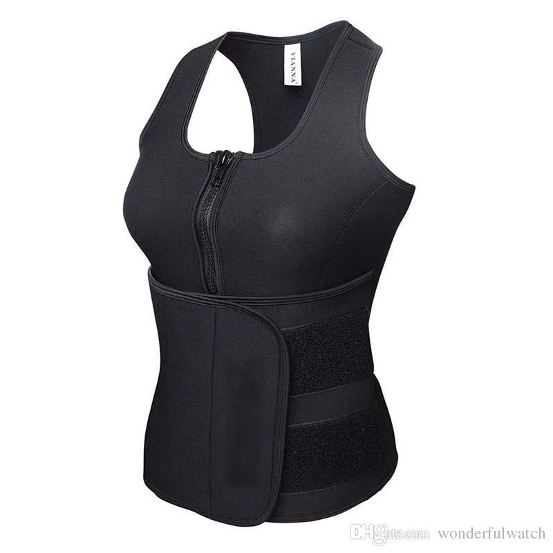 Neoprene Sauna Vest Body Shaper che dimagrisce Trainer Vita Hot Shaper Allenamento estivo Shapewear Corsetto regolabile Cintura AP31