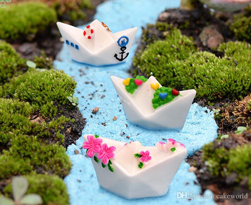 9 pezzi di carta in miniatura figurine terrario bonsai mestiere di resina fairy garden gnome micro paesaggio torta decoracion jardin