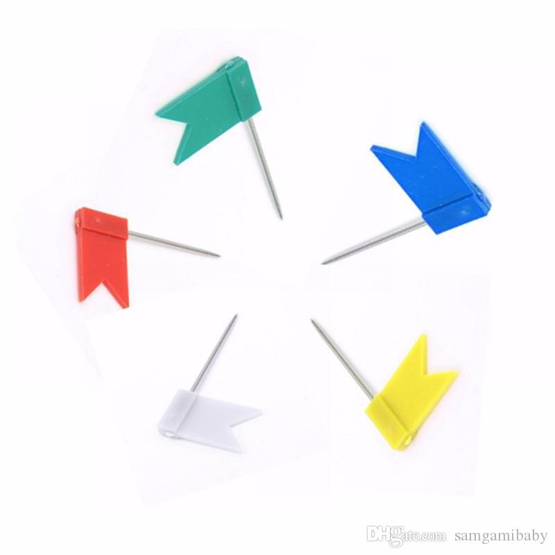 / drapeau multicolore en forme Punaises carte, drapeau punaises bon pour le bureau en utilisant la livraison gratuite