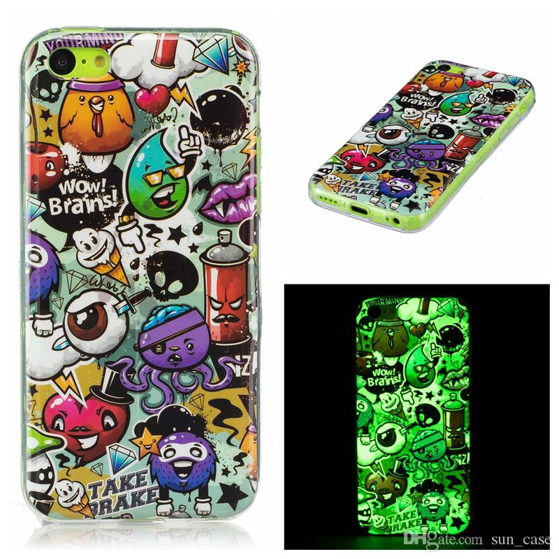 A3 A5 2017 Lumious Soft Case For Samsung Galaxy J3 J5 J7 2016 2017 Grand Prime G530 Note 8 light TPU IMD Gel Rubber Silicone Cellphone Cases