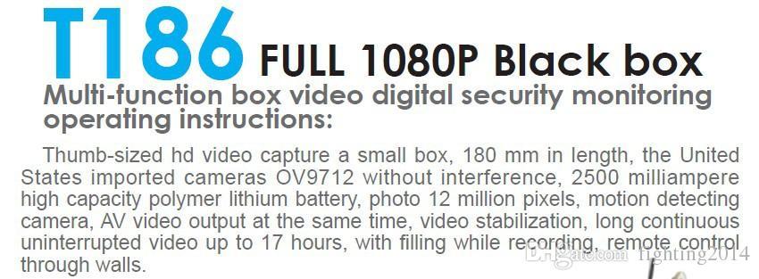Button Mini DV Full HD 1080P Module DIY Camera pinhole camera with remoto control DIY Camera CCTV Home Office Security Cam T186