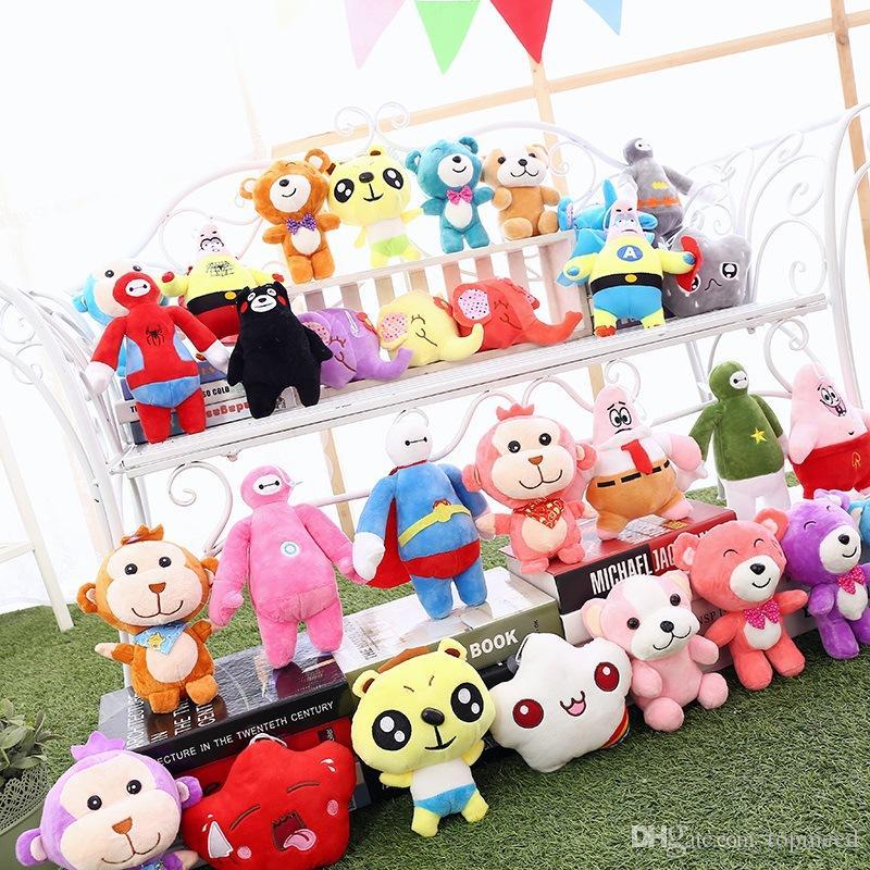 Bulmaca Peluş Oyuncaklar 20-23 cm Cep Canavar Dolması Hayvan Doll Squirtle Pikachu Charmander Bebek Oyuncak hediyeler 15 Tasarımlar OOA1273